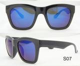 Lunettes de soleil polarisées des lunettes de soleil Tr90 de cristallin de couche de miroir de modèle de mode