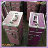 着色されたしまのあるABS虚栄心のトロリー美の箱(SATCMC014)