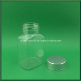 Silver Cap를 가진 100ml Medicine Capsule Pet Clear Plastic Bottle