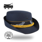 Cap Bucket azul escuro com metal Seal Belt