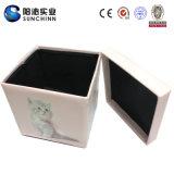 고양이 PU 가죽 접히는 저장 나무 상자 (SCFT00001)