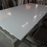 Pedra branca de quartzo da engenharia da geleira Polished