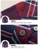 Chemise de plaid de coton de la mode de 2016 hommes