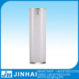 Schöne quadratische kosmetische Plastiklotion-luftlose Pumpen-Flasche für Frauen