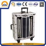 Aluminiumschönheits-kosmetischer Laufkatze-Kasten mit 6 LED-Lichtern (HB-3501)