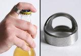 Porte-clés d'ouvreur de bouteille à bière d'ouvreur de bouteille de boucle en métal