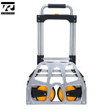 Stahlgefäß-faltende Gepäck-Karren-Handlaufkatze