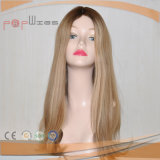Cutícula cheia do comprimento do ombro Intact na peruca superior de seda do cabelo de Remy do Virgin