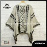 Vestiti aztechi di inverno del maglione del poncio lavorati a maglia donne