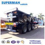 remorque gauche de camion de transport de conteneur d'utilisation de 40FT semi