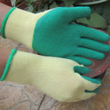 Látex Palm Coated Gloves Safety Work Glove Made em China