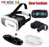 Caixa video virtual de venda quente II de Vr dos vidros da realidade 3D dos auriculares de Vr 2 vidros de 3D Vr