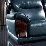 نمو حديثة زرقاء جلد أريكة يثبت (839)