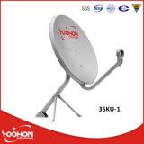 Antena de prato satélite pequena da faixa 35cm de Ku, antena da tevê, antena ao ar livre