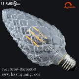 薄いマツ円錐形の新しい形LEDのフィラメントの省エネの球根