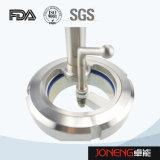 Aço inoxidável Sanitária Grade visor com luz LED (JN-SG1001)