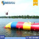 Sosta gonfiabile gigante di galleggiamento dell'acqua dei giocattoli dei giochi di corsa ad ostacoli dell'acqua