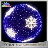 Feiertags-Beleuchtung des Weihnachtsdekorative blaue Kugel-Zeichenkette-Licht-LED