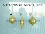 Bolas de papel del árbol de la decoración de la Navidad de Mache, -3asst