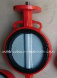 Tipo macio válvula de Wafe do assento de borboleta com o disco de nylon da pintura (D371X-10/16)