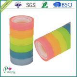 Fita dos artigos de papelaria da escola da cor BOPP do arco-íris da embalagem do presente