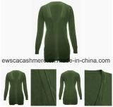 Form-Entwurfs-Frauen-lange Kaschmir-Wolljacke-Strickjacke