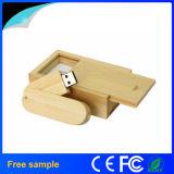 Azionamento di legno di bambù dell'istantaneo del USB della parte girevole con il contenitore di pacchetto