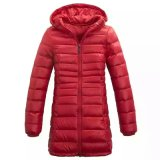 Wholasale Winter warme rote lange beiläufige Hoody Umhüllung für Frauen