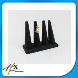 Schwarze hölzerne Fertigkeit-Erscheinen-Luxuxhand formte Ring-Bildschirmanzeige