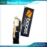 120GSM gestrickter Polyester-Markierungsfahnen-Rucksack, der Markierungsfahne (J-NF04F06095) geht, bekanntmachend