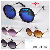 Rétro modèle et lunettes de soleil rondes d'armature avec la décoration en métal (MI219&MI220)