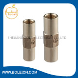 Fittings de cobre amarillo Threaded Coupling para Threaded Copper Bond Earth Rod