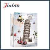 Der lehnende Aufsatz des Pisa gedruckten kaufengeschenk-Papierbeutels