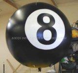 Publicidad del globo de encargo del helio de la forma, zepelín inflable del helio, globo inflable del helio del redondo LED