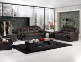 Home SofaのためのコーヒーTableとの現代Leather Sofa Furniture