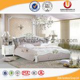 Кровати гостиной кожи размера европейского типа роскошные королевские (UL-FT218A)