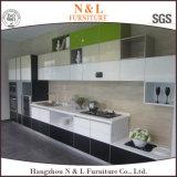 N & l дверь глянцеватого лака кухонного шкафа кухни стеклянная с алюминием