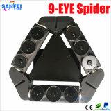 Luz movente profissional do feixe da aranha do laser da cabeça de Red&Green 9PCS