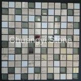 Mosaico de piedra natural del color mezclado para el azulejo de la pared del fondo/el azulejo de suelo