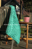 Chunky Large Thick Hand Knit Blanket Knitting Throw Rug Carpet