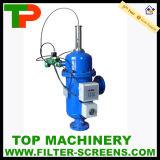 水処理装置の自浄式フィルター