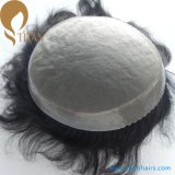 帆立貝の人のための前部人間の毛髪のモノラルToupee