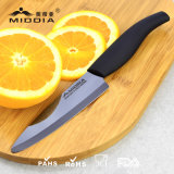 """6.7 """"ミラーの黒い陶磁器のダマスカスのシェフのナイフ"""