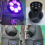 6*10W 소형 꿀벌 눈 LED 이동하는 맨 위 광속 빛