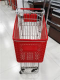 Carrello di plastica standard di acquisto del supermercato