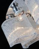 Iluminação de vidro desobstruída moderna muito popular do pendente para a sala de jantar