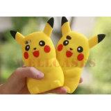 2016 cubierta/caja calientes del teléfono del silicón de la historieta 3D Pikachu para el iPhone/Samsung