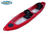 Sièges doubles Sit on Top Bottom Transparent Kayak de pêche