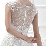 A - linha vestido nupcial com o vestido 2016 bordado