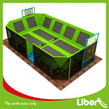 Big dell'interno Air Trampolines con Basketball Hoops